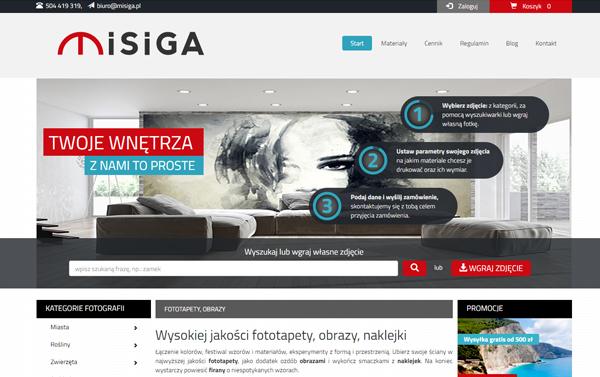 ce7f12647d Strona internetowa dla firmy zajmującej się sprzedażą fototapet. Wdrożenie  strony - firma Mserwis z Wrocławia